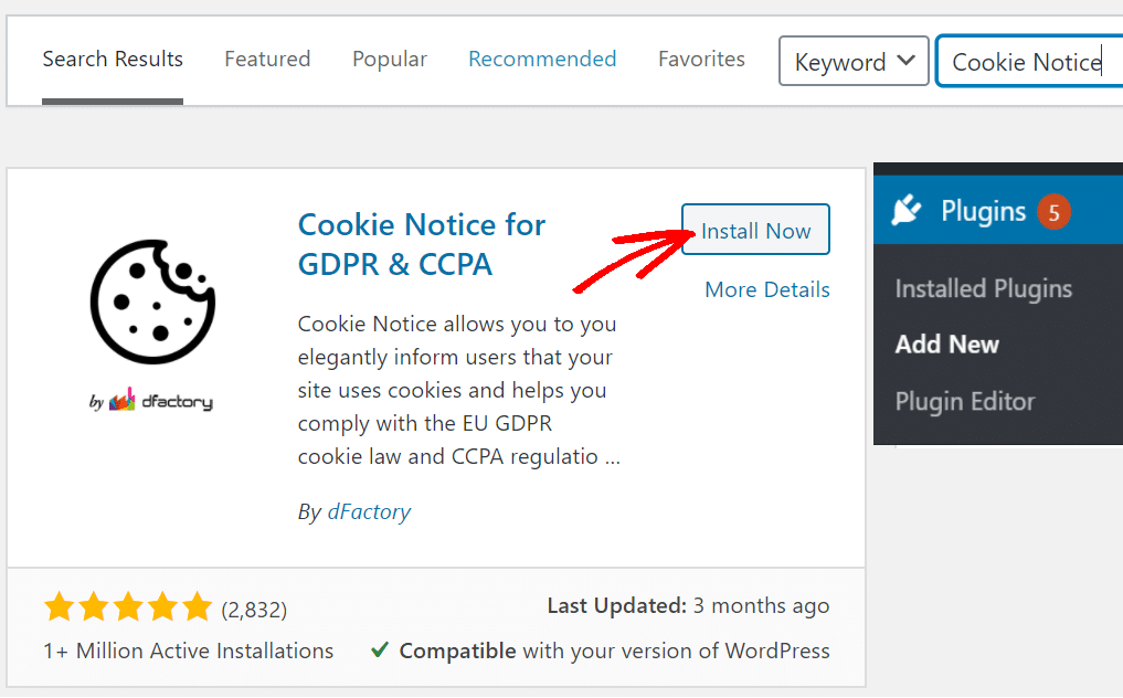 Cookie Notice & Compliance for GDPR/CCPA